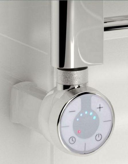 Kudox Thermostatic Electric Towel Rail Straight 500mm x 1100mm Chrome 5060235347504