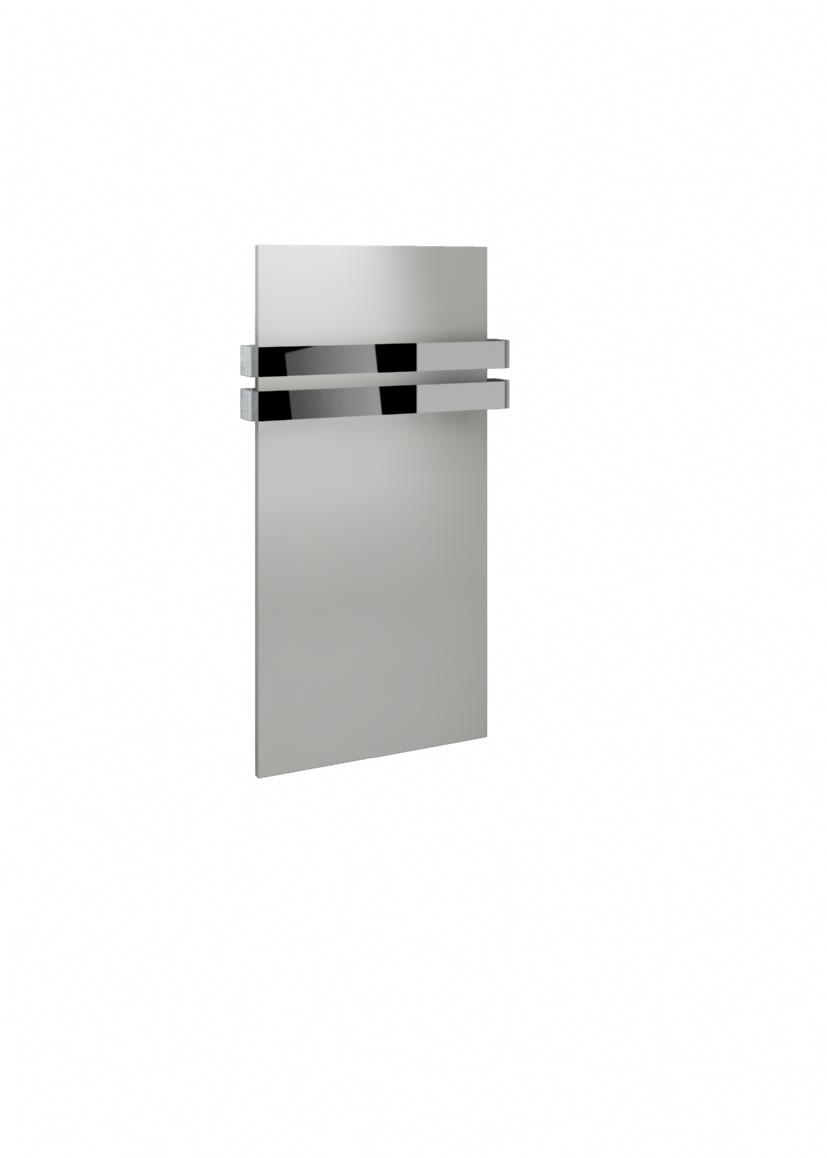 Kudox Ikon Towel Rail 508mm x 917mm White & Chrome ...