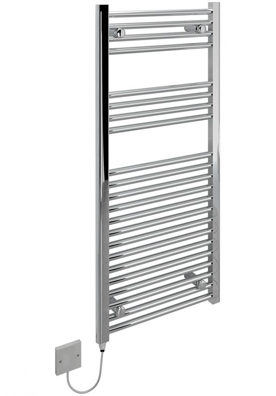 Kudox Electric Towel Rail Flat Chrome 500 x 100 5060235340338