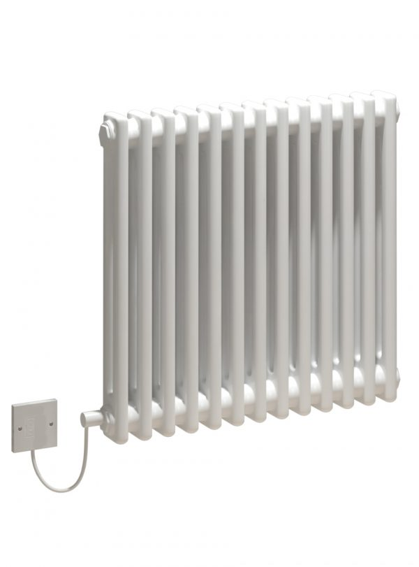 5060235346194 Kudox Electric Column Radiator Evora 2 Column 13 Section 600mm x 628mm White 600 Watts COCP