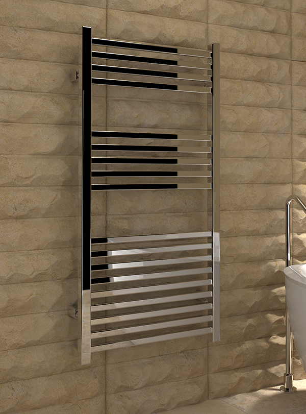 5060069427595 Kudox Cadiz Towel Rail 500mm x 1000mm Chrome IS
