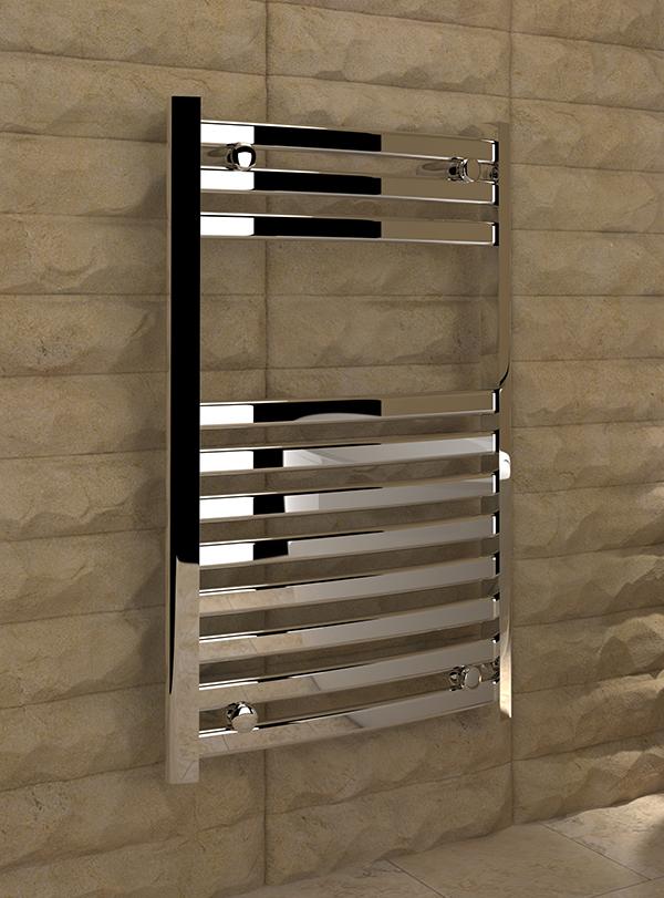 5060235348617 8683P Kudox Verna Designer Towel Rail 500mm x 800mm Chrome IS