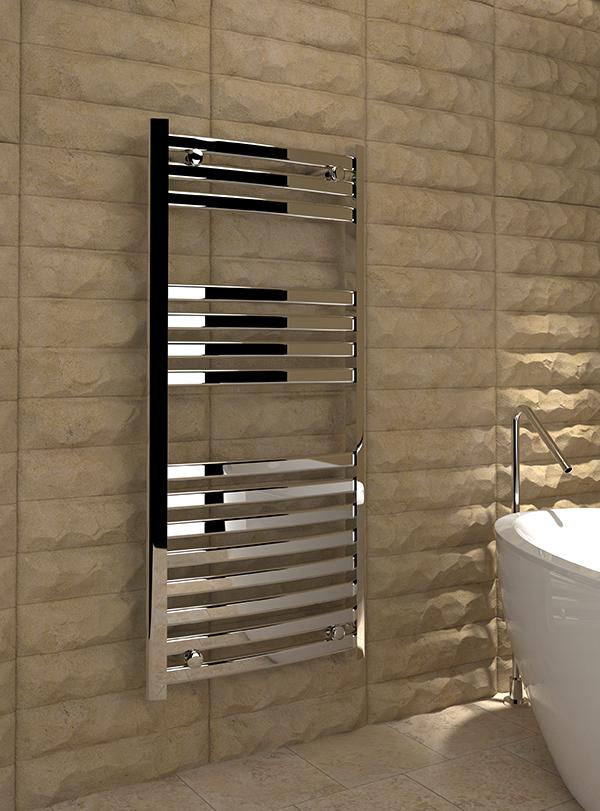 5060235348624 8540P Kudox Verna Designer Towel Rail 500mm x 1100mm Chrome IS