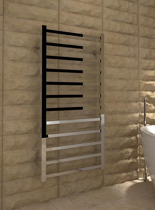 5060235348631 8393P Kudox Paco Designer Towel Rail 500mm x 1000mm Chrome IS