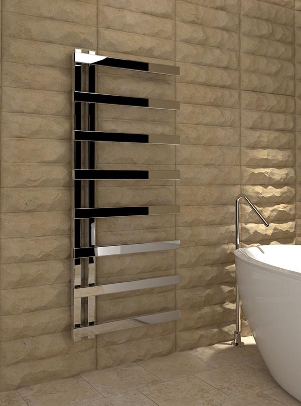 5060235348952 Kudox Astrillo Towel Rail 500mm x 1150mm Chrome IS