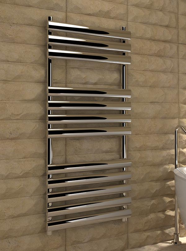 5060235348969 Kudox Ellipse Towel Rail 500mm x 1100mm Chrome IS